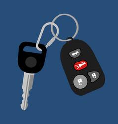 Car key with auto access padlock vector