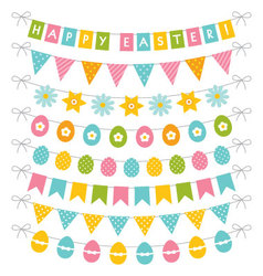 Easter banners set vector image vector image