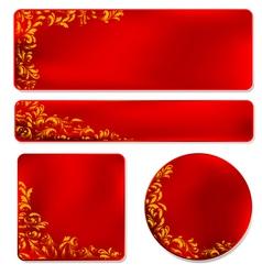Elegant Filigree Banner Elements vector image vector image