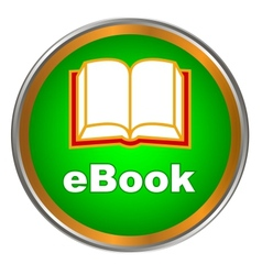 Green ebook icon vector image