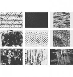 grunge texture set vector image
