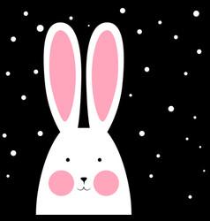 happy cute funny rabbit - winter vector image
