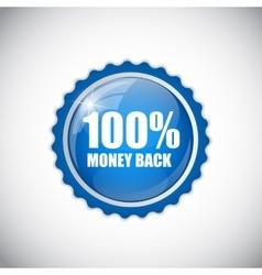 Money Back Blue Label vector image