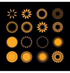 symbols sun in set vector image