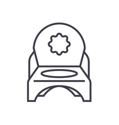 toilet potty line icon sign vector image