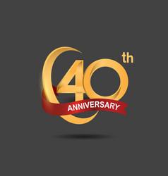 40 anniversary design logotype golden color vector