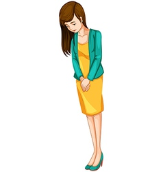A sad businesswoman vector image