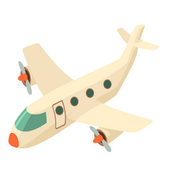 airplane icon isometric 3d style vector image