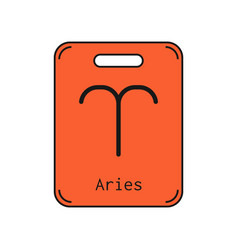 Aries sign of the zodiac flat symbol horoscope vector