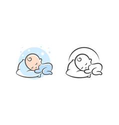 Baby sleep logo vector