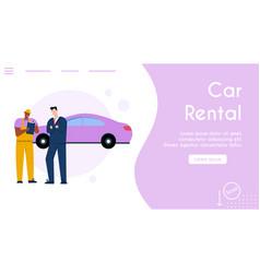 Banner car rental service concept vector