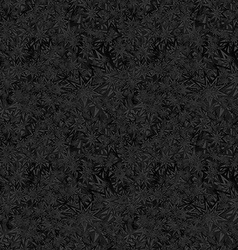 Black seamless star pattern background vector