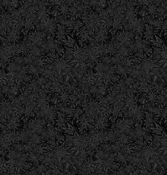 Black seamless star pattern background vector
