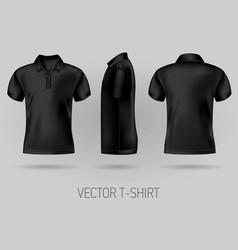 black short sleeve polo shirt design templates vector image