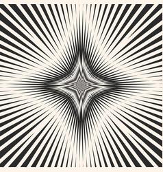 black white starburst background striped pattern vector image