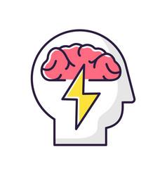 brainstorming rgb color icon vector image