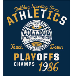 bulldog team college american football vector image