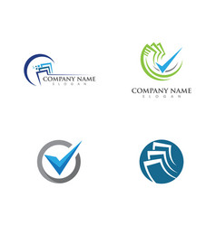 business finance professional logo vector image