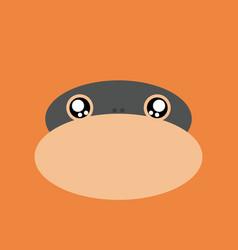 Cartoon monkey background vector
