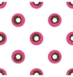 cartoon style donuts seamless pattern vector image