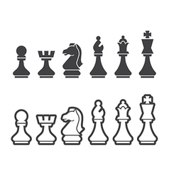 Chess icon vector