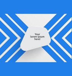 clean template for advertising with blue arrows vector image