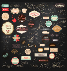 collection of vintage labels vector image