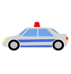 Colored a police car vector