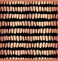 Copper foil horizontal stripes seamless pattern vector
