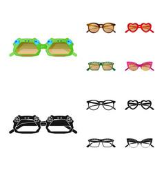 Design of glasses and sunglasses icon vector