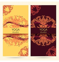 design template for yoga studio vector image