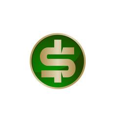 dollar icon logo design template vector image