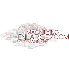 Enlarge word cloud concept vector