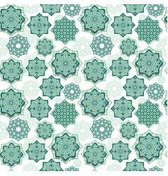 festival graphic of islamic geometric art vector image