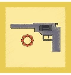 Flat shading style icon Kids pistol vector
