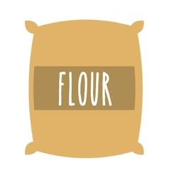 Flour powder bag isolated icon design vector