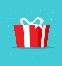 Gift box isolated in flat vector