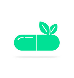 green herbal medication logo vector image