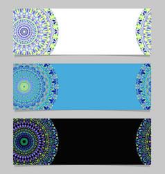 Horizontal colorful gravel mandala banner vector