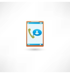 incoming call vector image