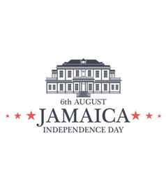 Independence Day Jamaica vector