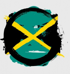Jamaica circle flag vector image