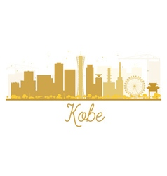 Kobe City skyline golden silhouette vector