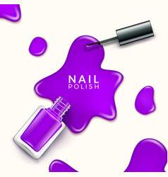 nail polish beauty paint drop cosmetic bottle vector image