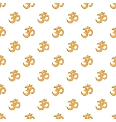 Om sign pattern cartoon style vector
