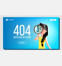 oops page not found 404 error landing page vector image