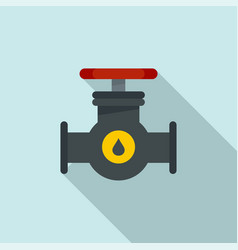 petrol tap pipe icon flat style vector image