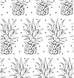 Pineapple pattern simple of vector