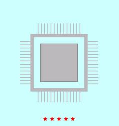 processor it is icon vector image