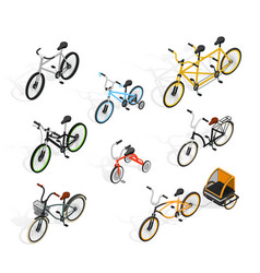 Push cycles isometric set vector